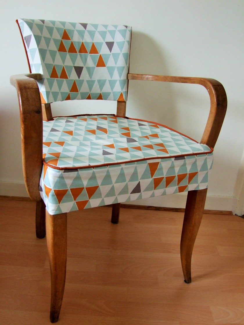 fauteuil bridge 1950. Black Bedroom Furniture Sets. Home Design Ideas